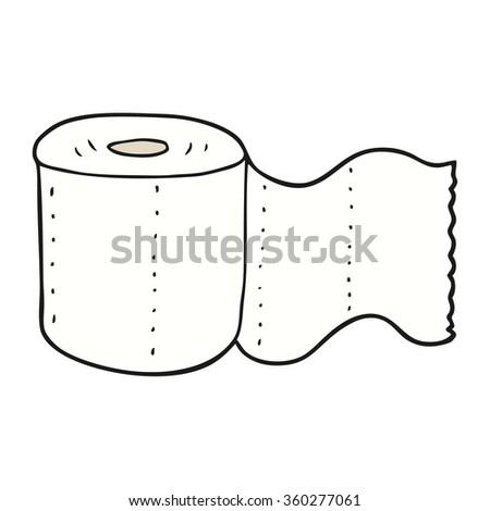 freehand drawn cartoon toilet paper - stock photo