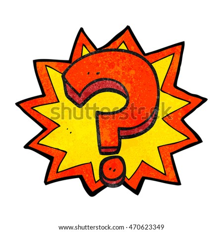 freehand drawn texture cartoon question mark
