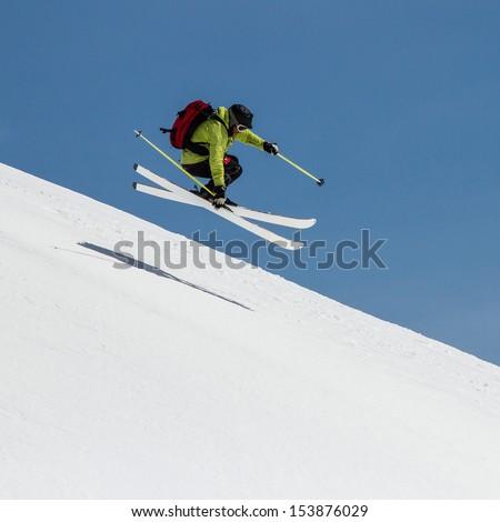 Freeride on  Kamchatka - stock photo