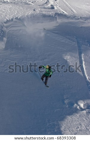 Freerider moving down a slope