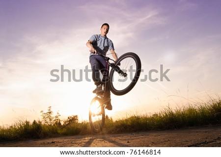Freestyle jump - stock photo