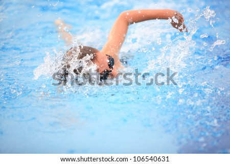 Freestyle race - stock photo