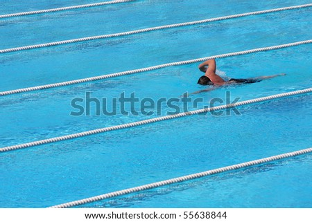 freestyle swimming - stock photo