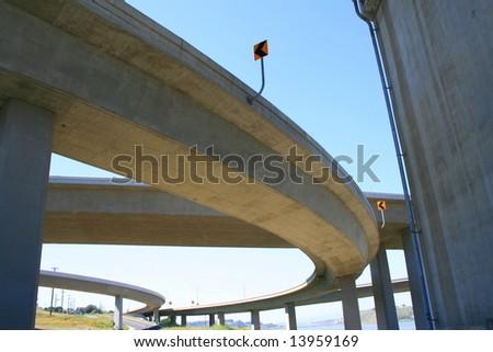 Freeway Ramps - stock photo