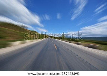 freeway road in rural  countryside - stock photo