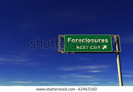 Freeway sign, next exit... Foreclosures