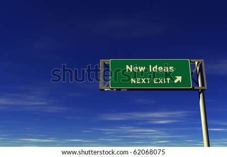 Freeway sign, next exit... New Ideas - stock photo