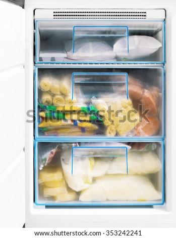 freezing chamber - stock photo