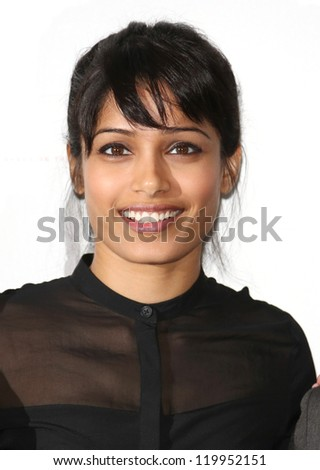 Freida Pinto at the Desert Dancer photocall held at Sadler's Wells, London. 09/10/2012 Picture by: Henry Harris