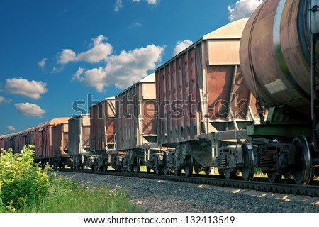freight cars - stock photo