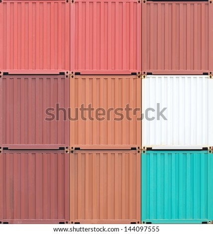 freight shipping containers - stock photo