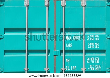 freight shipping containers texture - stock photo