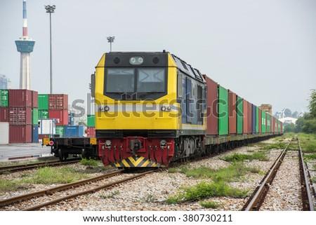 Freight Train - stock photo