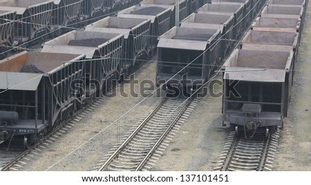 Freight train ,background. - stock photo