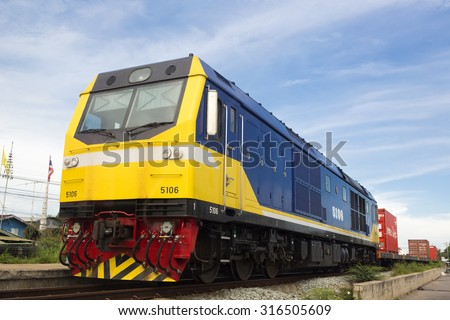 Freight Train in a  Landscape - stock photo