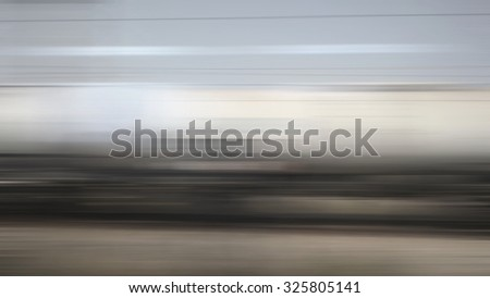 Freight train motion blur - stock photo