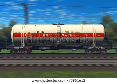 Freight train with gasoline tanker cars