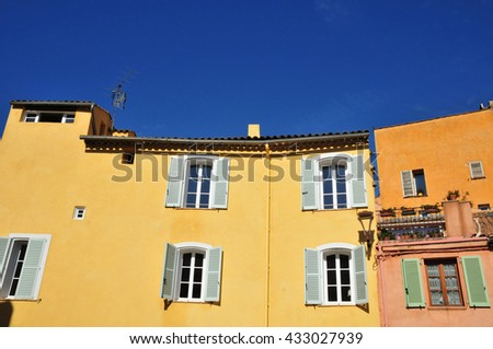 Frejus; France - april 16 2016 : old house in the city center