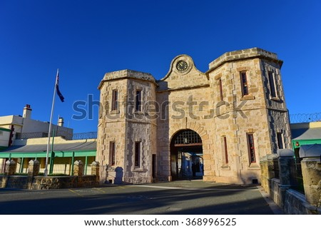 Fremantle Prison, a world heritage building in Fremantle, Western Australia - stock photo