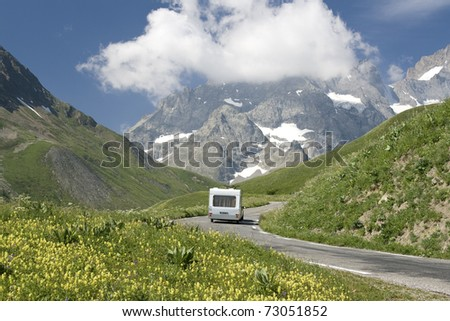 French alps, camping holidays in the