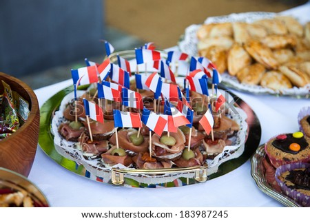 French appetizer - stock photo