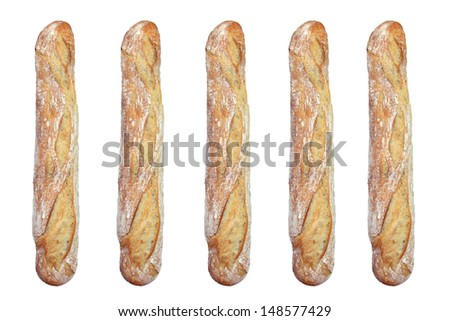French baguette bread - stock photo