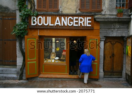 French bakery found in St. Andre, Provence, France - stock photo