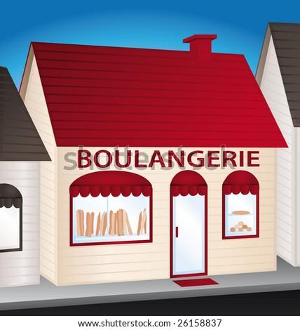 French bakery illustration - stock photo