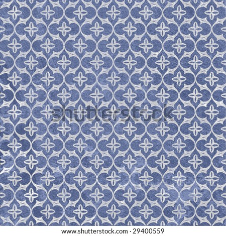 French Blue and White Paper