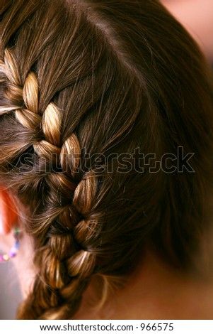 French Braid - stock photo