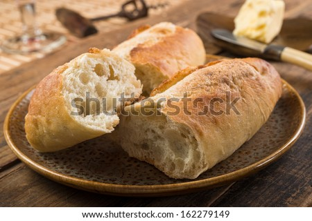 French Bread and Butter - stock photo
