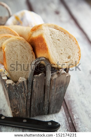 French bread baguette  - stock photo