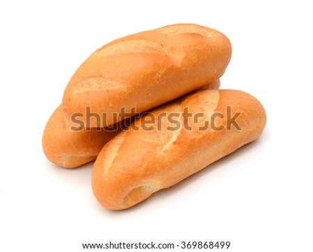 French bread on isolated background