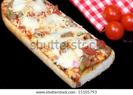 French Bread Pizza - stock photo