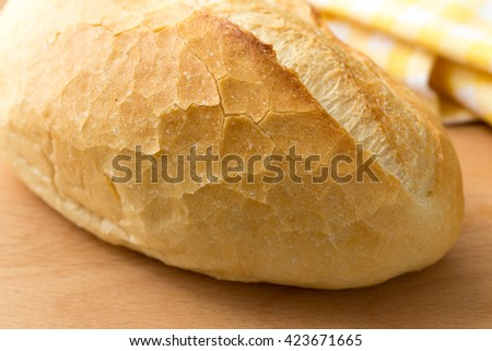 French bread, traditional food background - stock photo