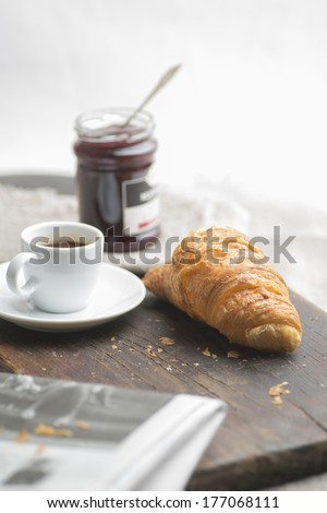 French breakfast - stock photo
