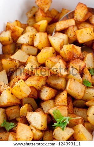 French Browned Potatoes - stock photo