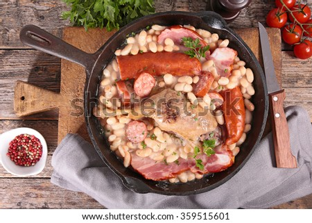 french cassoulet - stock photo