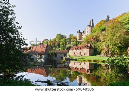 French castle - stock photo
