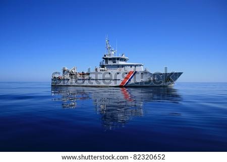 French coast guard - stock photo