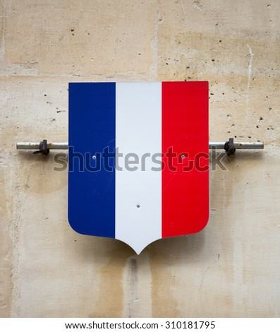 French flag crest - stock photo