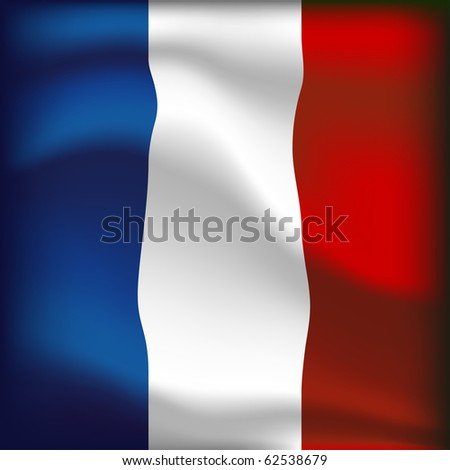 french flag illustration - stock photo