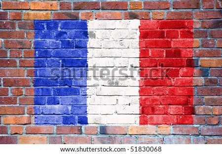French flag with ripples