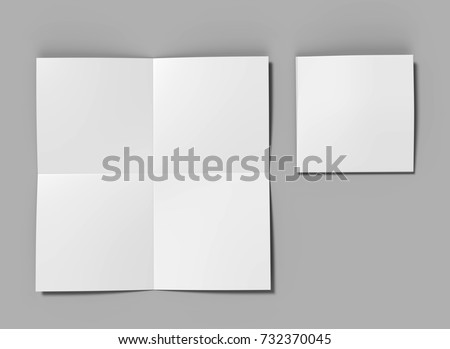 french brochure template - square stock images royalty free images vectors