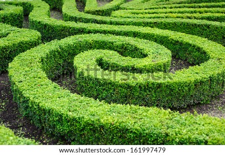 French formal garden in the centre of Paris - stock photo