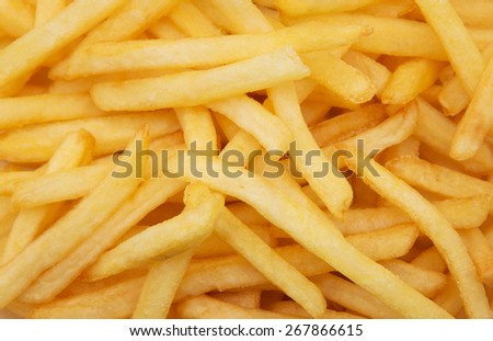 French fries background - stock photo