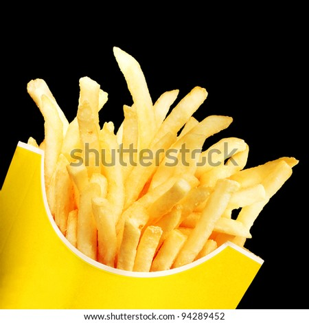 French Fries in a red paper container
