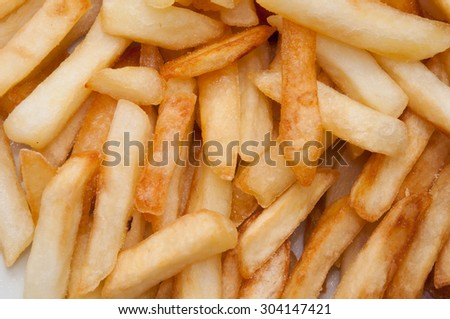 French fries in close-up. - stock photo