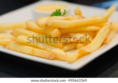 french fries in dish