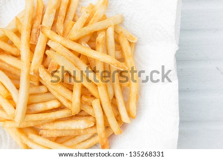 French Fries is a popular food in the world - stock photo